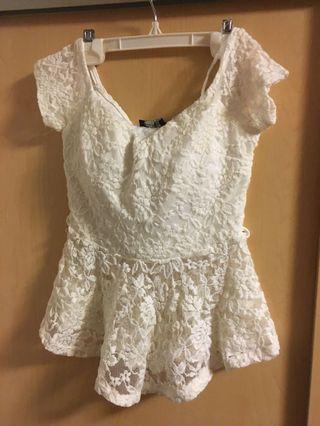 White lace shirt (s)