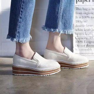 帆布鬆糕鞋 platform shoes