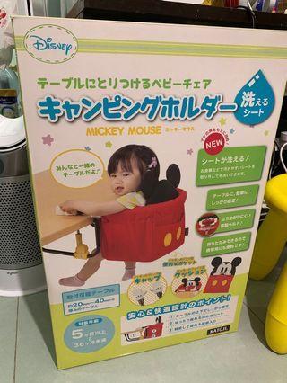 日本 Katoji 迪士尼 Disney 米奇老鼠 Mickey Mouse 幼兒 便攜 座椅