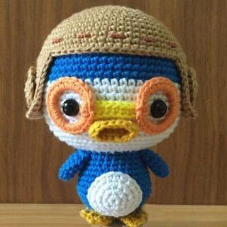 🚚 Pororo Penguin Handmade Crochet Doll