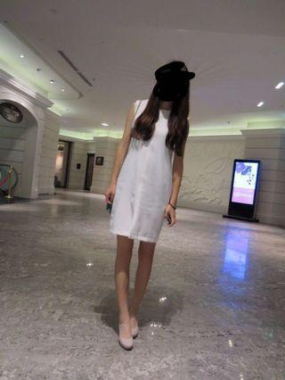 🚚 全白氣質連身裙 小禮服 全白洋裝