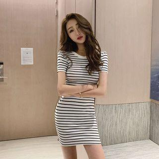Striped Stretchy Slimming Dress