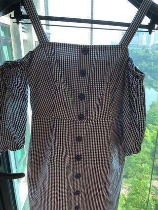 Love bonito gingham off shoulder dress