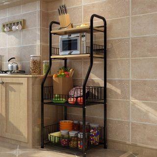 PROMOTION!! LAST PCS Black kitchen shelving shelf rack