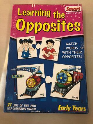 Puzzle - learning opposites