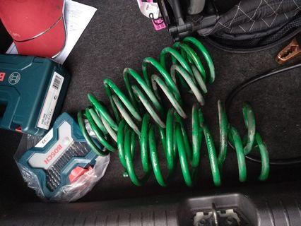 Used Tein sport spring front and rear for honda civic fd2