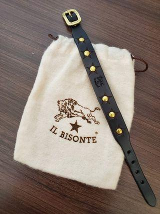 Il bisonte 黑色真皮手帶 (Made in Italy)