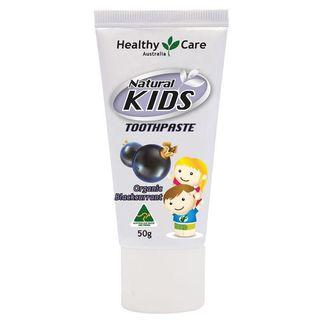 Healthy Care Natural Kids Toothpaste Organic Blackcurrant Flavour 50g