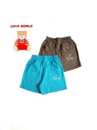 愛的世界LOVE WORLD IKKS系列 前.後雙口袋舒適彈性休閒男童短褲(4A/兩件一組)