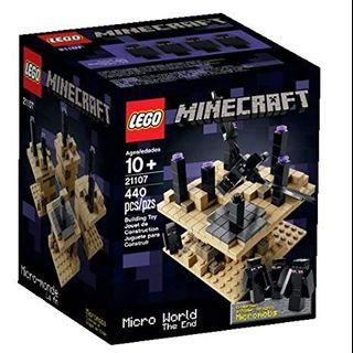 Lego Minecraft. 21107. The End. brand new and sealed