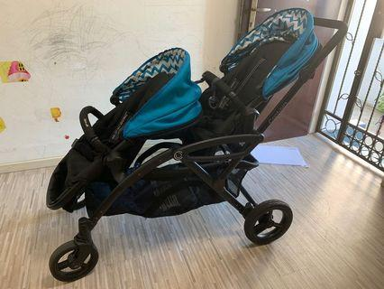 🚚 Contours Options Elite Tandem Double Toddler & Baby Stroller