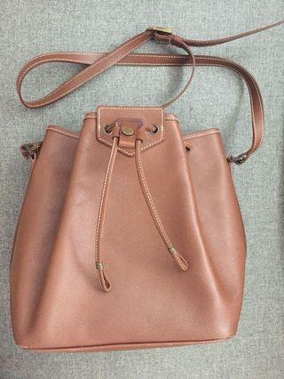 Geoffrey Beene Bucket Leather Bag