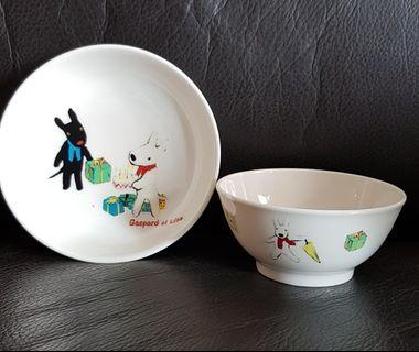 Gaspard et Lisa bowl and plate