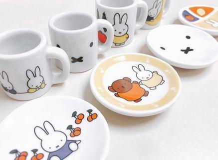 Miffy 陶瓷小杯碟一套 (絕版)