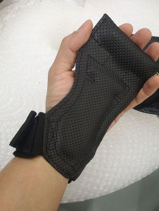 pull up glove PU leather hand grip palm protect
