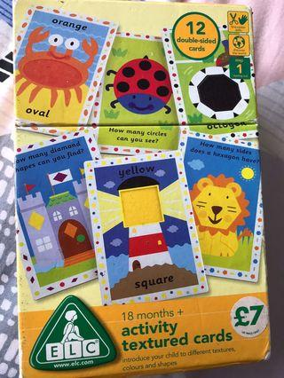 🚚 12 double sided activity textured cards