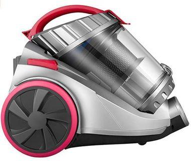 (E2000) Deik Cylinder Vacuum Cleaner, Bagless Vacuum Cleaner (18Kpa Powerful Suction, 800W, 4 Stage Filtration System, 7.5M Working Radius) Grey & Pink