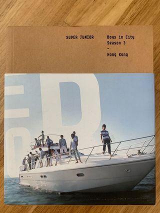 [OFFICIAL PHOTOBOOK] Super Junior Boys In City Season 3 Hong Kong