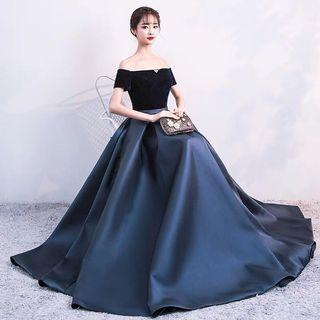 Off Shoulder Dress evening gown