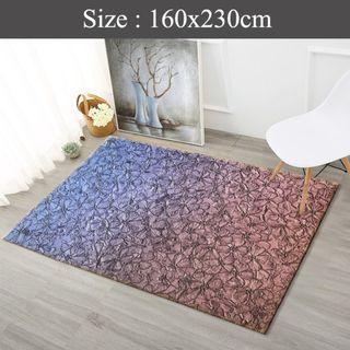 RE-INSTOCK- Velvet feel Rugs Design (A ) 160x230cm