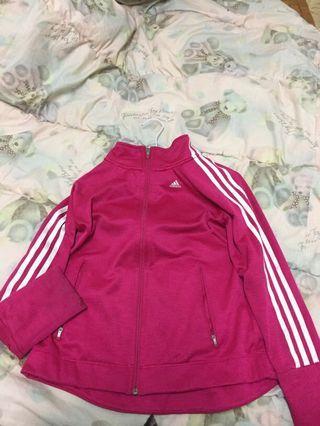 adidas粉色外套