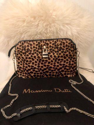 Massimo Dutti Leopard Genuine Leather Sling Bag
