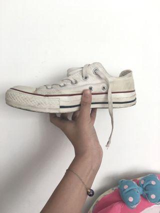 🚚 Converse白色帆布鞋 正品