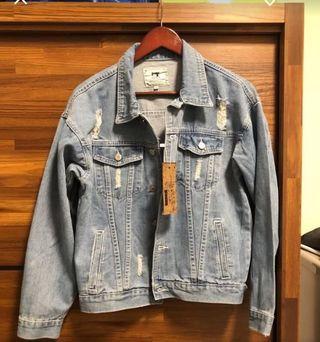 🚚 牛仔外套 破壞設計 s-m可穿 短版 九成五新 只穿一次