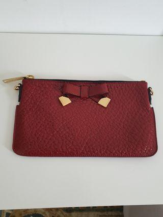 Burberry Peyton Leather Clutch