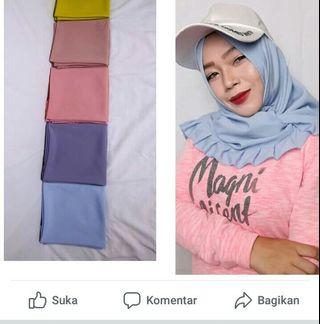 Hijab segitiga instan kriwil