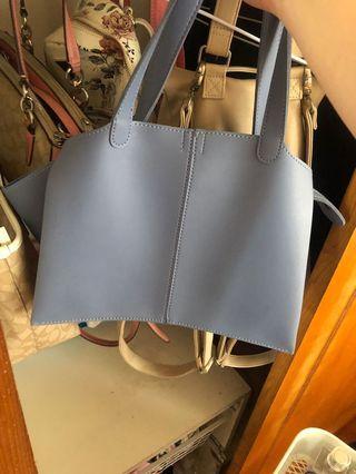藍色手提包 可私訊看內圖