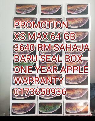 Raya Promo iPhone Xs Max 64 GB 3640 RM Sahaja Baru Seal Box