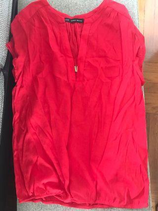 Zara basic red top