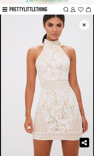 BNWT lace halter midi bodycon dress