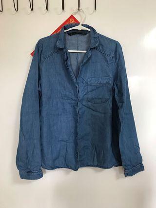 Zara 藍色恤衫