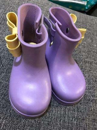 Mini Melissa Lilac Boots size 9 authentic
