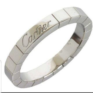 Cartier Lanieres 18k White Gold Ring Sz 53