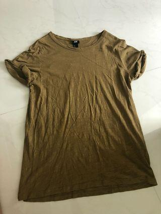 H&M army green top