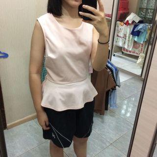 Forever 21 nude pink peplum top