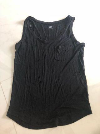 Uniqlo Black tank top