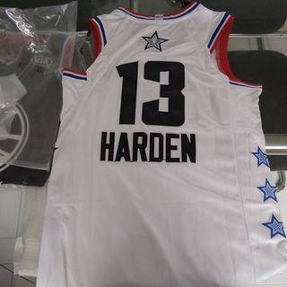 nba all star game 2019 james harden houston rockets jersey size large