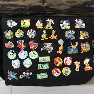 絕版珍藏 Disney pin 迪士尼襟章 pin trading Disneyland hidden Mickey 史迪仔 唐老鴨 stitch chip dale Winnie