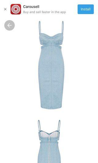 Halogen Denim Dress