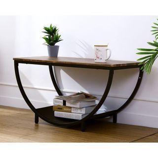 A~輕工業復古風半圓矮茶几桌/客廳桌/書桌/茶几