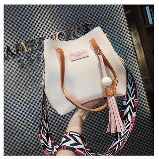 bucket bag pink white