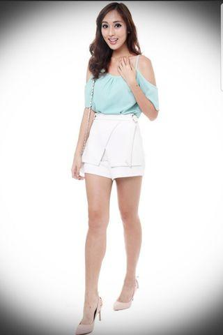 Rudra Shorts in White by MDS