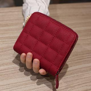 🚚 Ladies Wallet Square Mini Small Short Wallet  ( Black,Red)