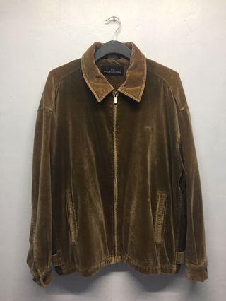 Vintage balenciaga zip velour jacket