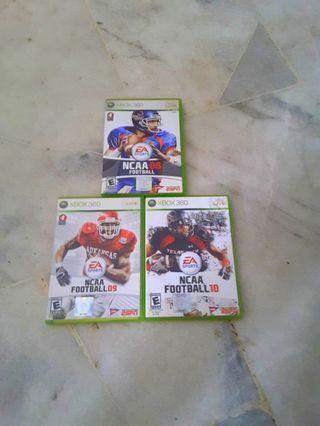 Xbox360 games - Ncaa Football 08,09 & 10