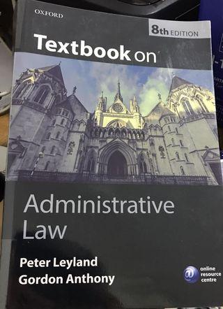 Administrative Law by Peter Leyland (8th Ed)